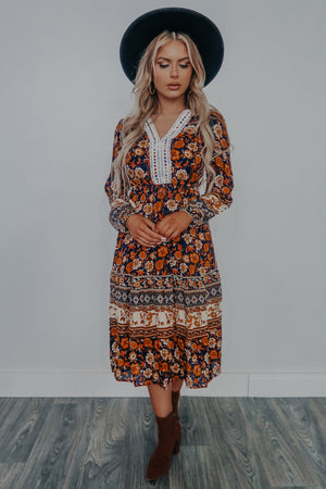 Keep Us Together Midi Dress: Multi