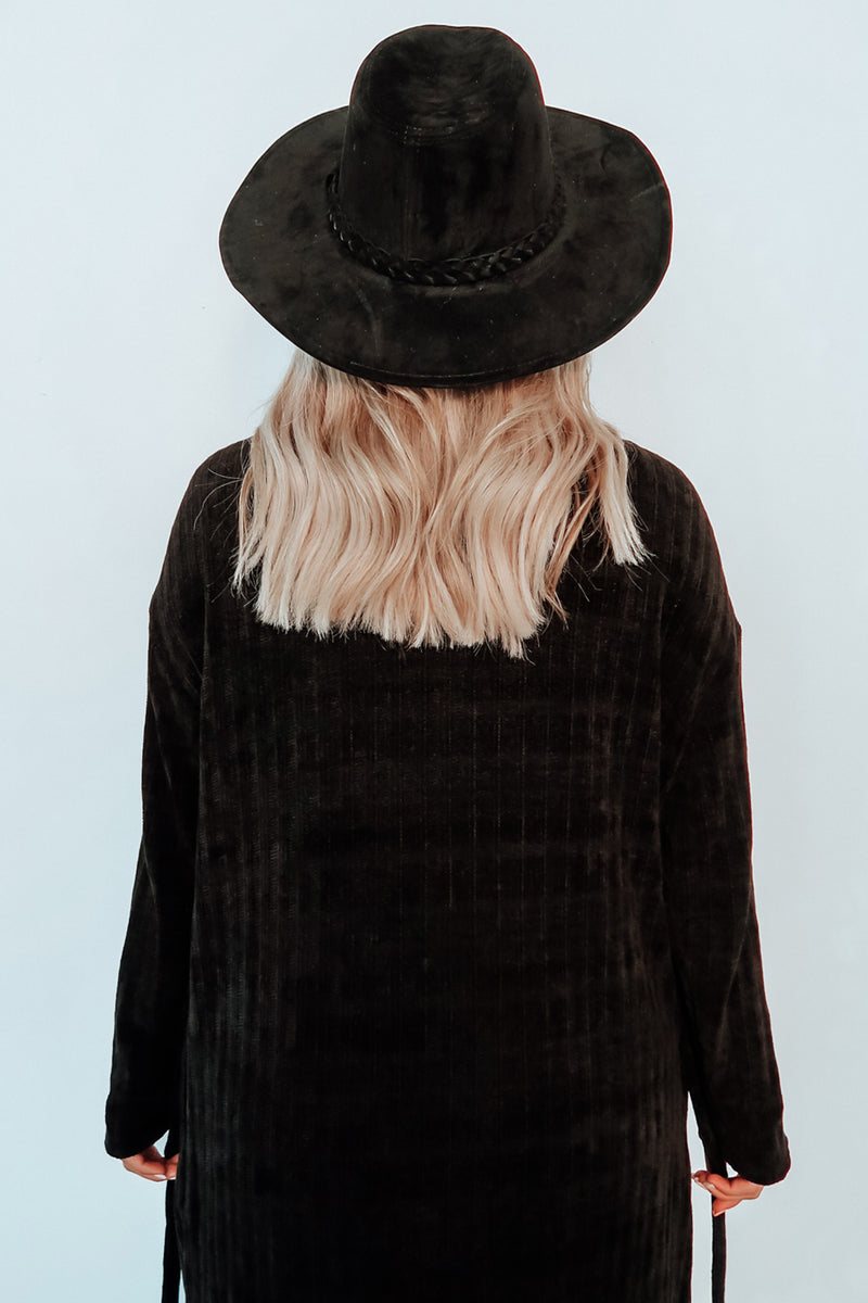 Night Moves Cardigan: Black