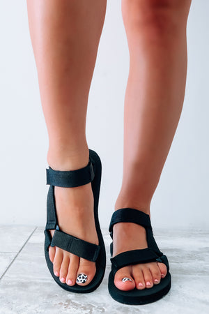 Sunny Summer Days Sandals: Black