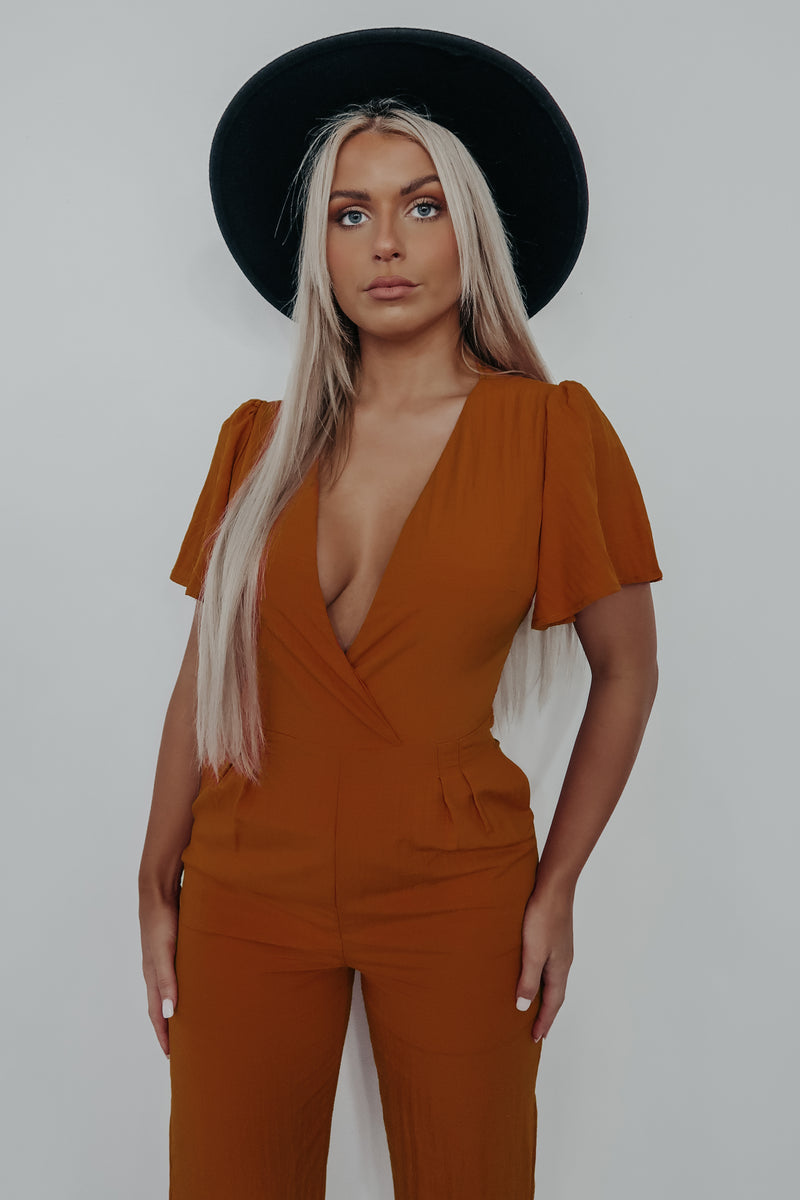 Right On Time Jumper: Burnt Orange