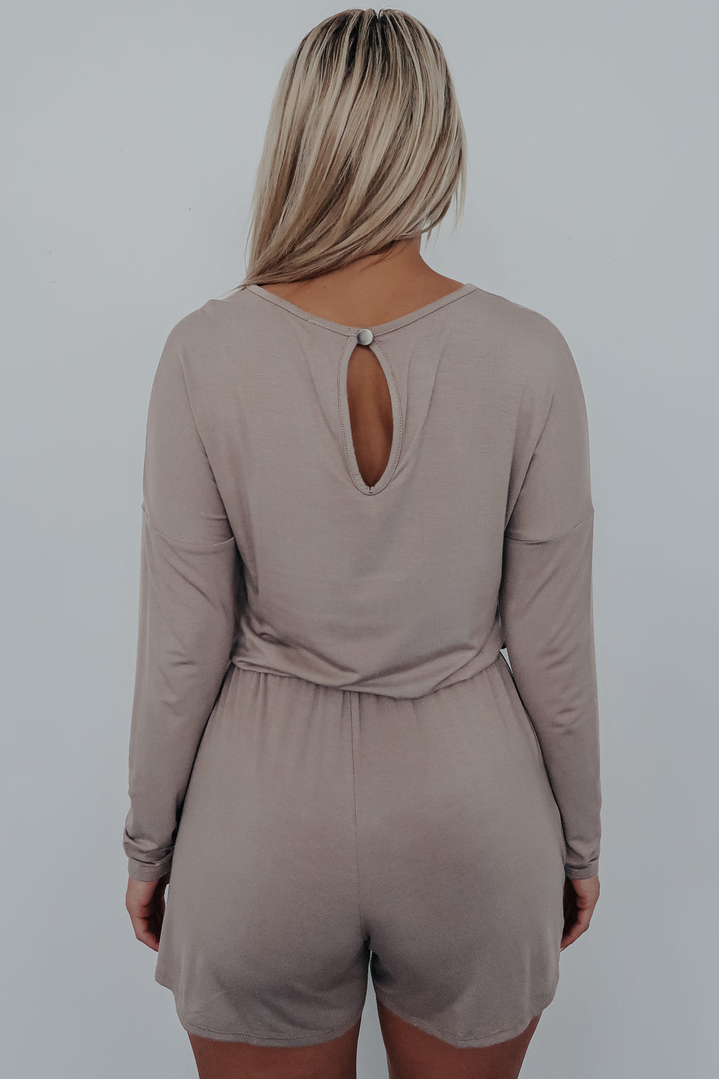 All I Need Romper: Taupe
