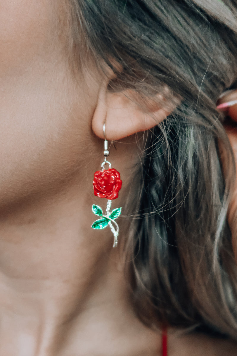 Rose Earrings: Multi