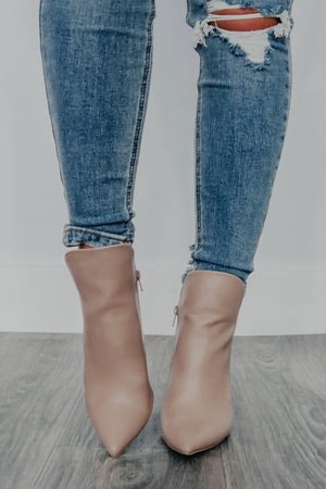 Show Me Love Booties: Dusty Taupe