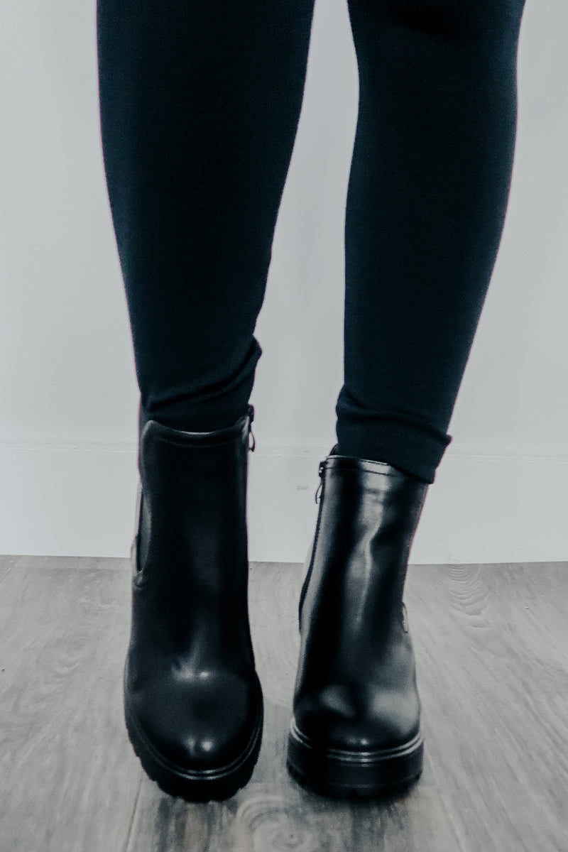 Hard To Handle Booties: Black