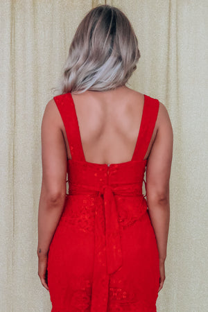 Miss Cupid Dress: Red