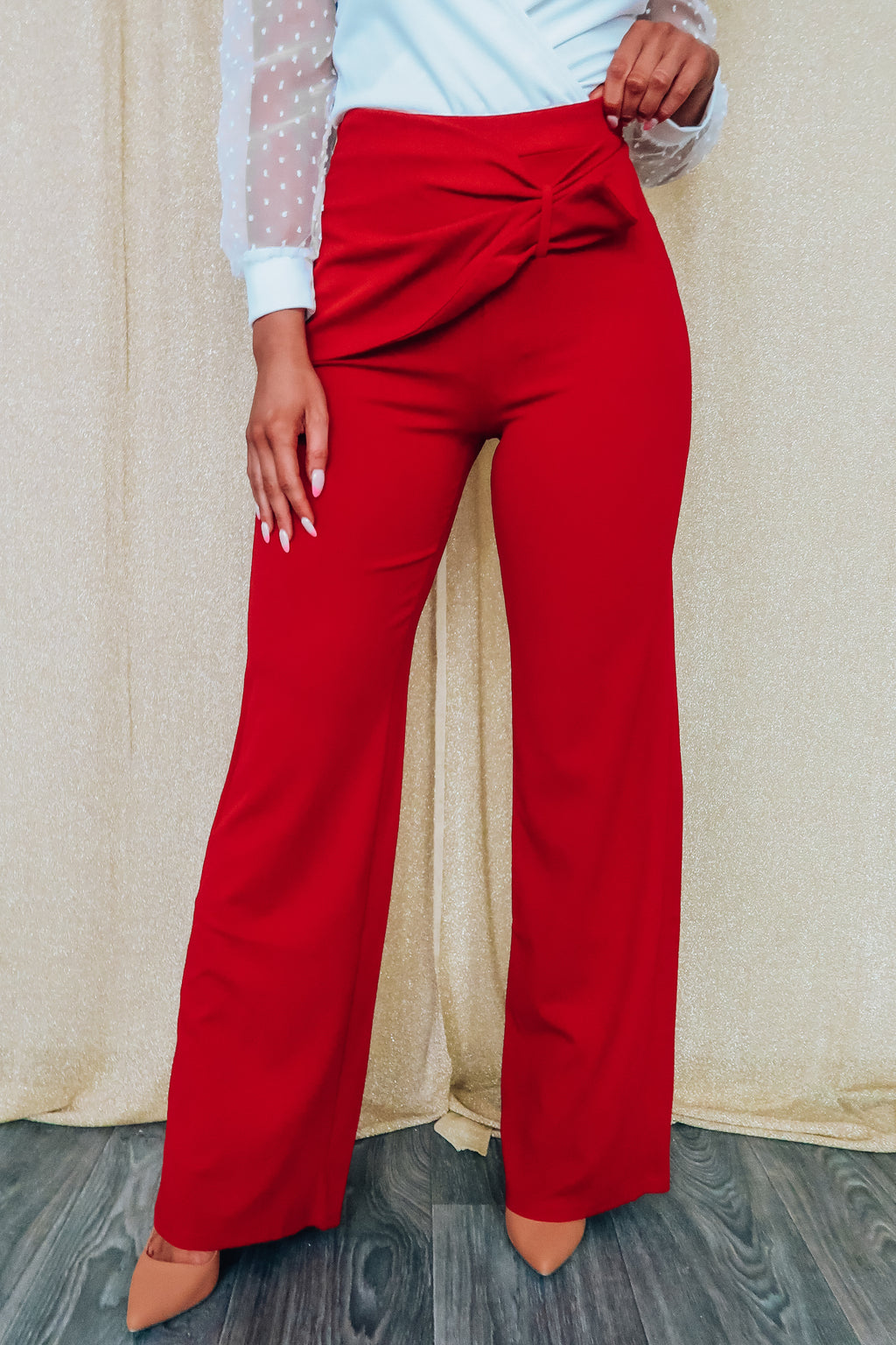 Love On Top Pants: Red