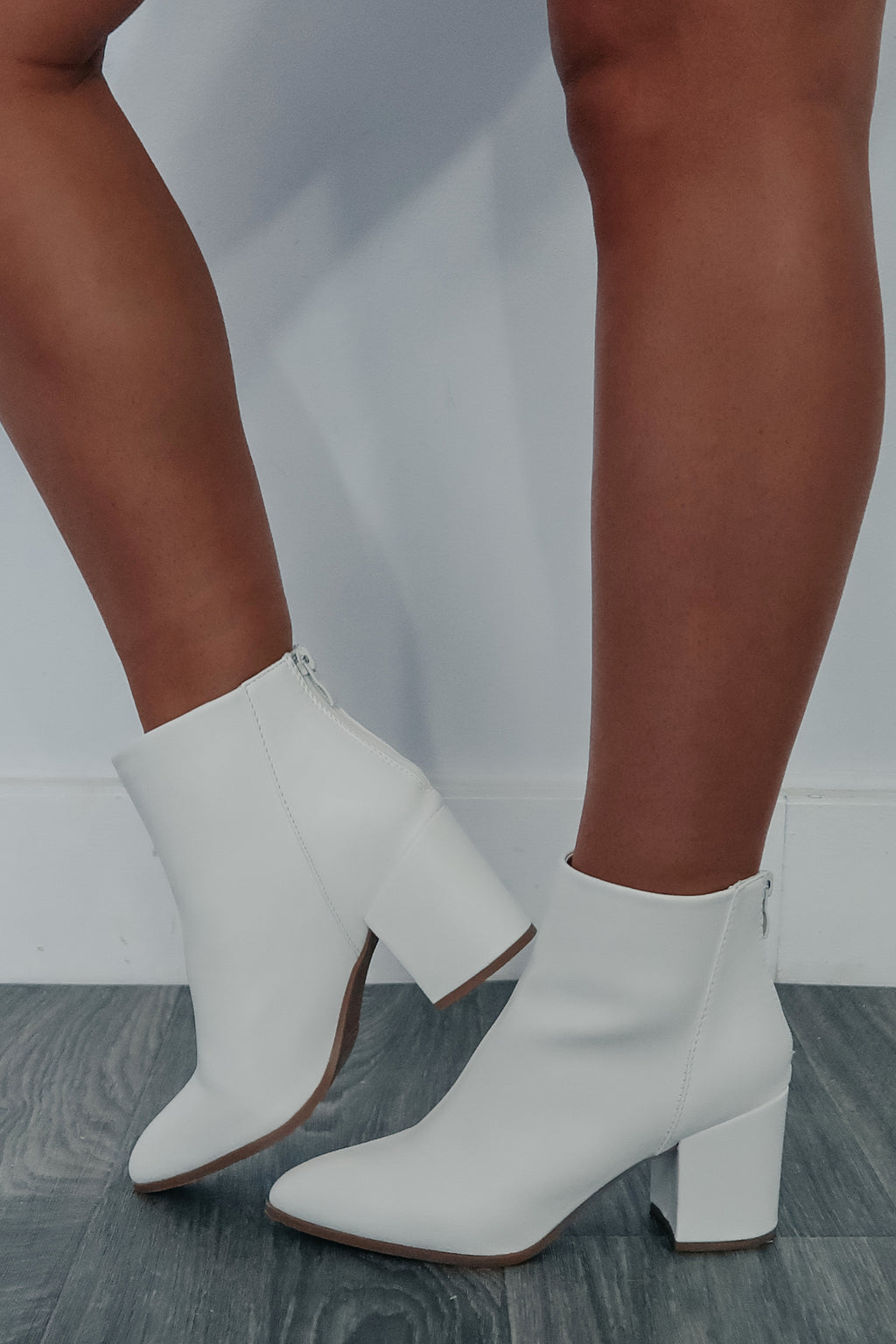 Status Update Booties: White
