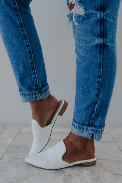 I Mean Business Mules: White