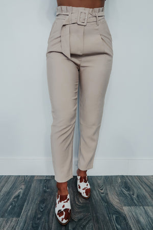 At The Top Pants: Beige