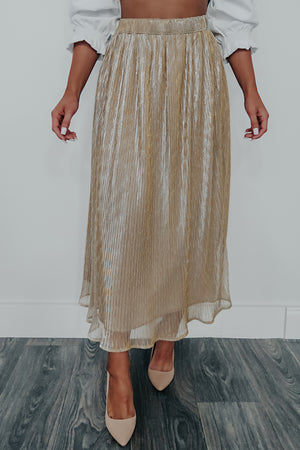 Gone Forever Skirt: Gold