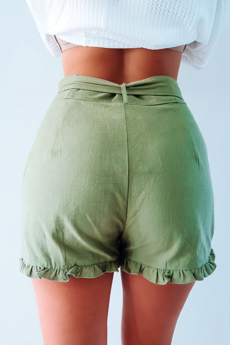 Things Change Shorts: Olive