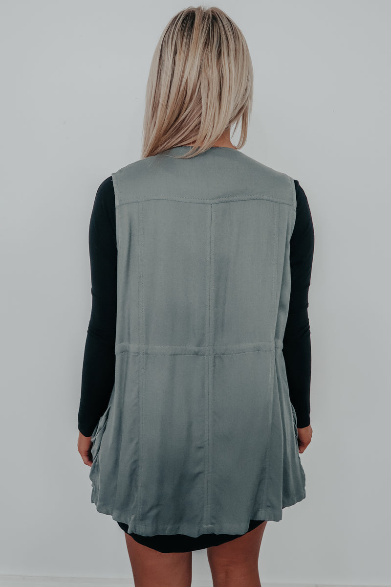 Never Without You Vest: Dusty Olive