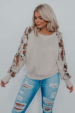 RESTOCK: My Last Goodbye Top: Taupe/Multi