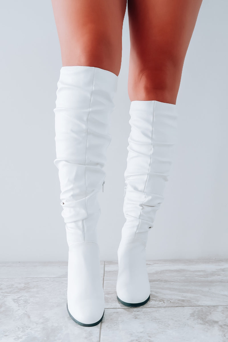 Perfect Connection Boots: White