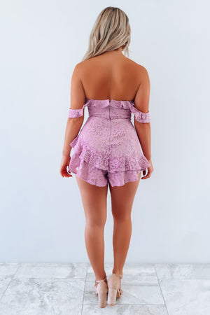 Just You Wait Romper: Mauve