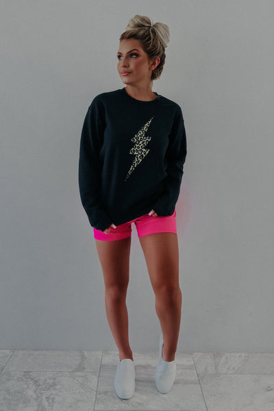So Striking Sweatshirt: Black/Multi