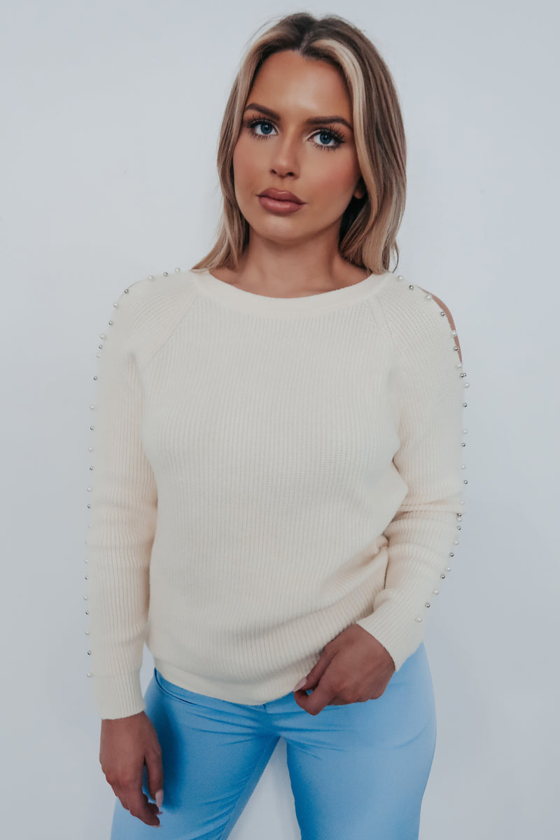 Chasing Forever Sweater: Cream