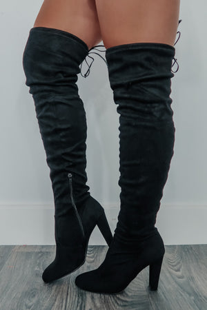 Day By Day Boots: Black