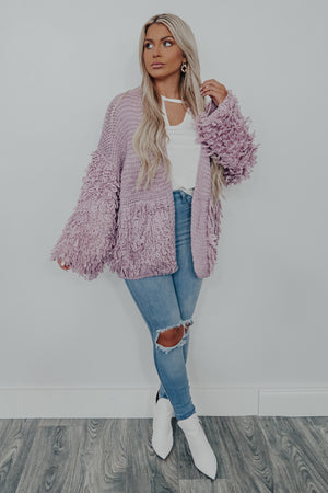 Just Like Home Cardigan: Lilac