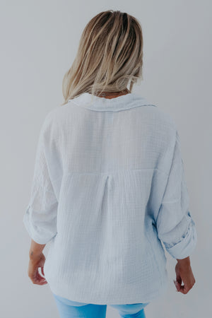 Stir Things Up Blouse: Ivory/Grey
