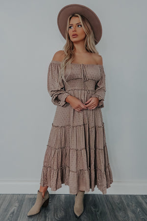 City Of Love Midi Dress: Taupe