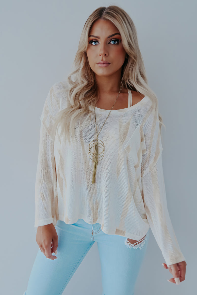 Best Of Times Top: Ivory/Beige