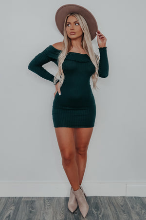 Let's Get Away Dress: Emerald Green