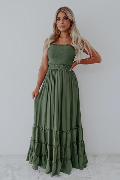 Timeless Beauty Maxi: Olive