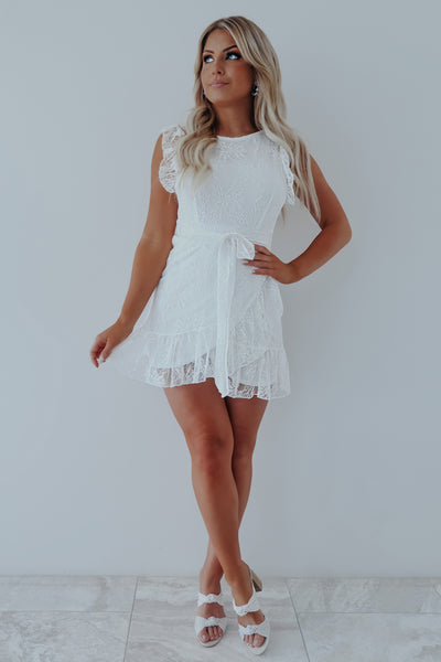Just You & I Dress: White