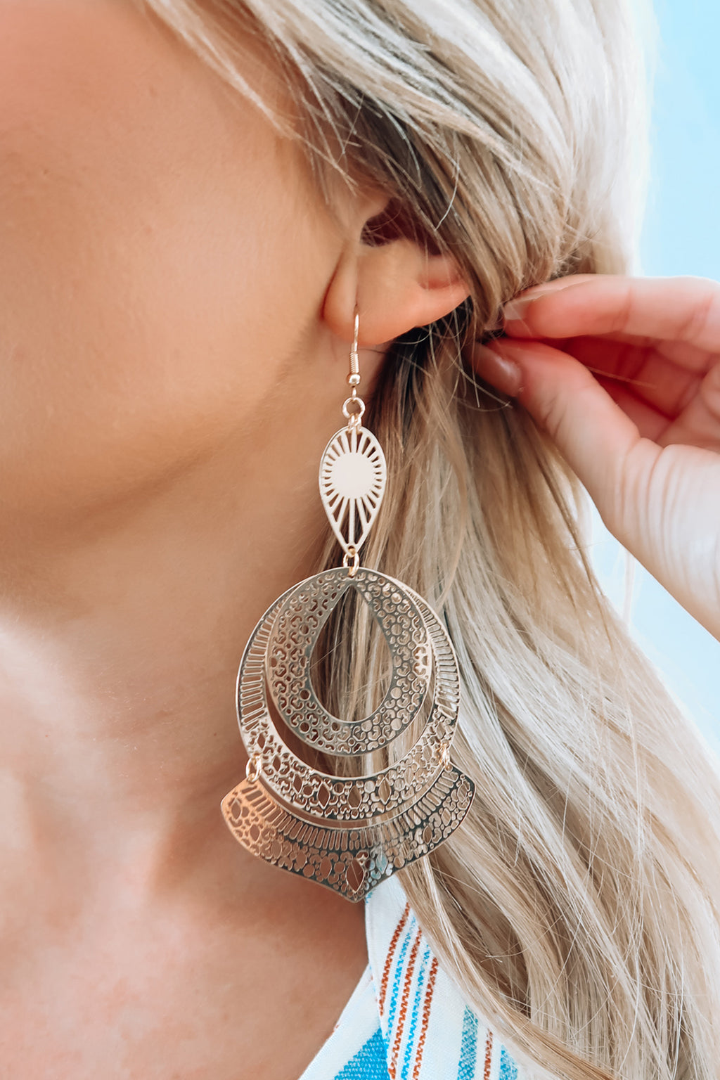 Lead You On Earrings: Gold