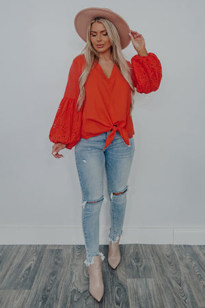 Dare To Be You Top: Coral Red