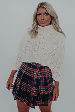 Never Too Much Cropped Sweater: Beige