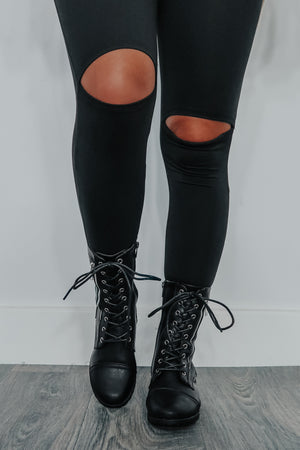 RESTOCK: Through The Leaves Boots: Black