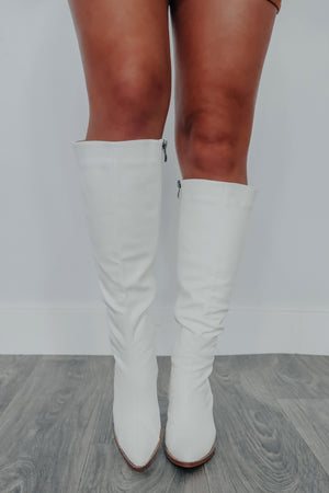 Here For The Party Boots: White