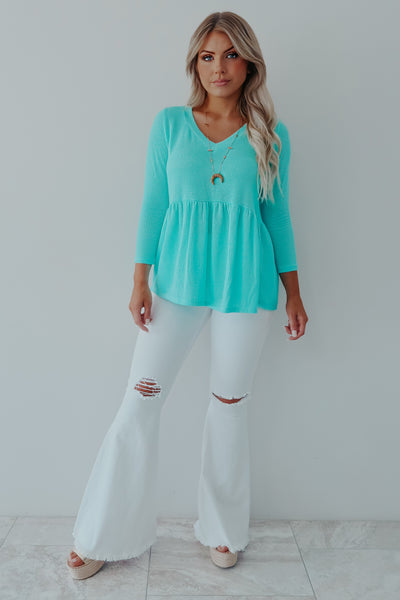 Wondering About You Top: Turquoise