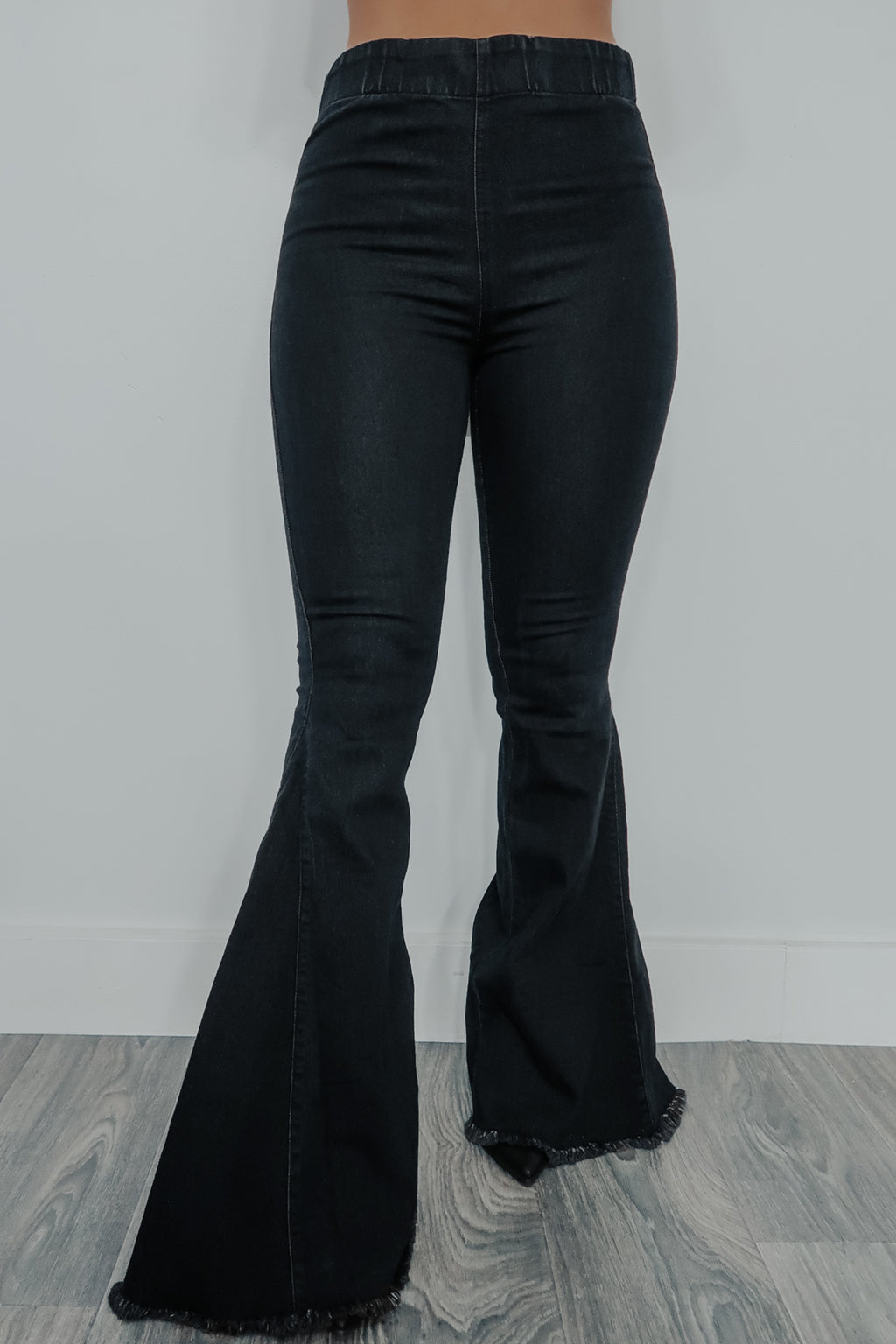 Turn Back Time Bell Bottoms: Black