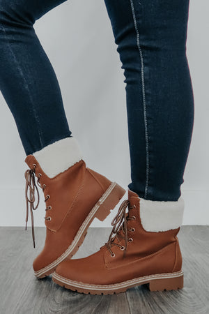 Cabin Nights Boots: Camel
