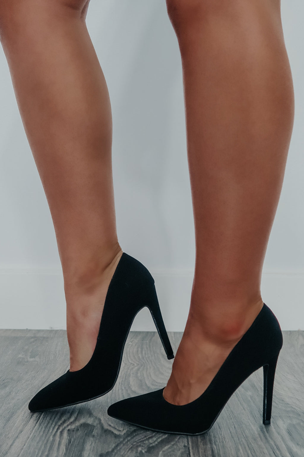 REORDER: Her Own World Heels: Black