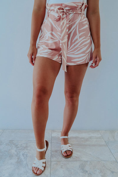 Meet Me In Paradise Shorts: Blush/Ivory