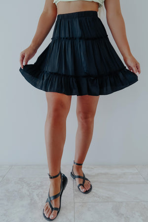Living For It Skirt: Black