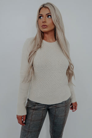 Pure Perfection Sweater: Beige
