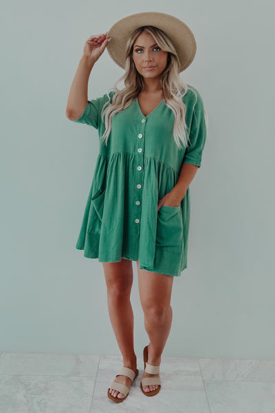 Sway In Style Dress: Olive