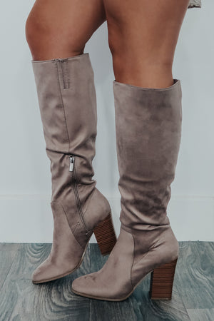 Back For Good Boots: Taupe