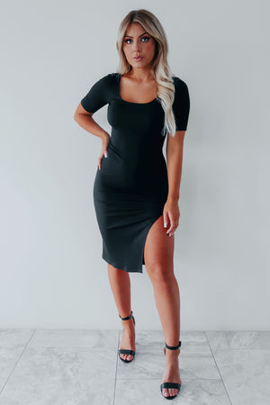 Anything Could Happen Dress: Black