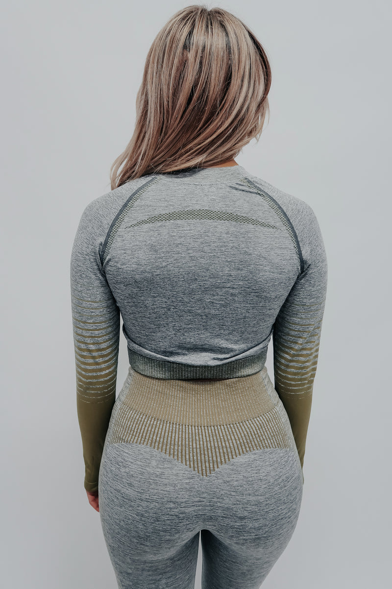 Push Yourself Top: Olive/Multi