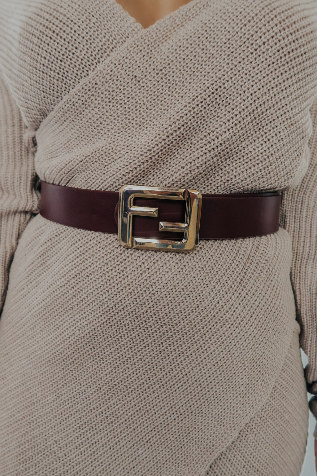 All Around Me Belt: Burgundy/Gold