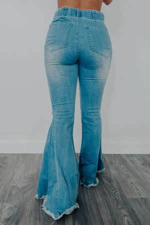 Little Wonders Bell Bottom Jeans: Denim