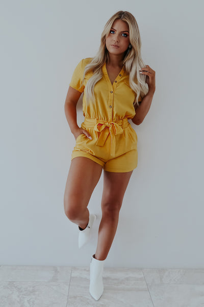 Those Summer Days Romper: Honey