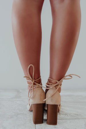 A Step Up Booties: Nude