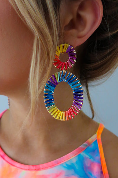 So Colorful Earrings: Multi